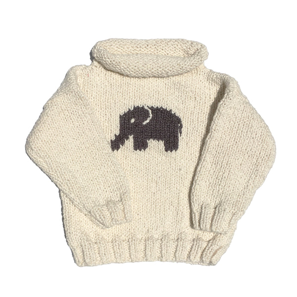 Elephant Ivory Rollneck Sweater