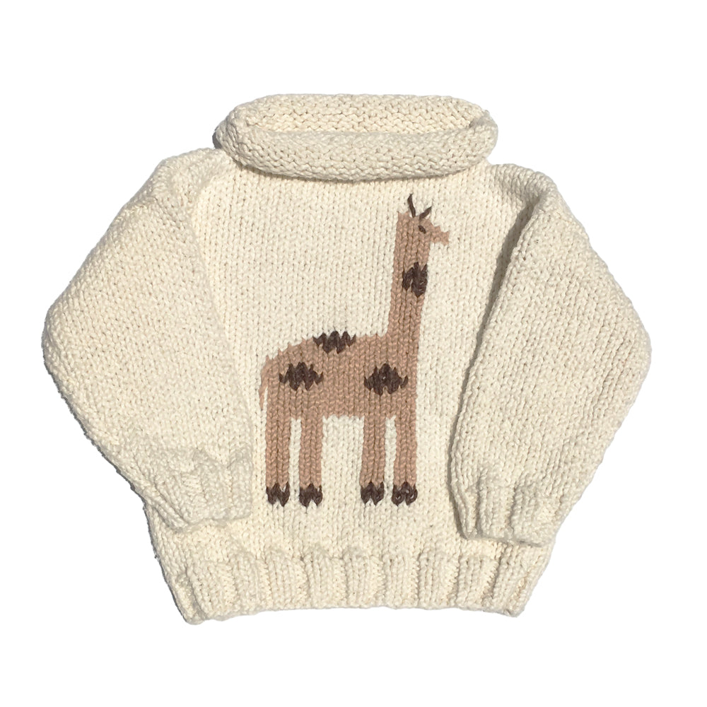 Giraffe Ivory Rollneck Sweater