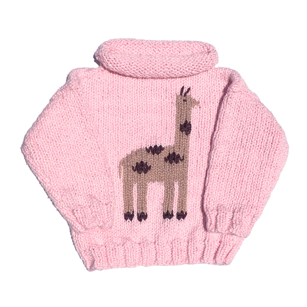 Giraffe Pink Rollneck Sweater