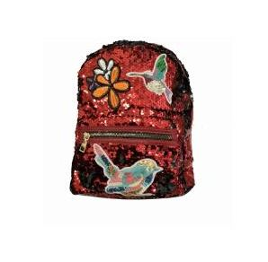 Sequin Backpack Merlot