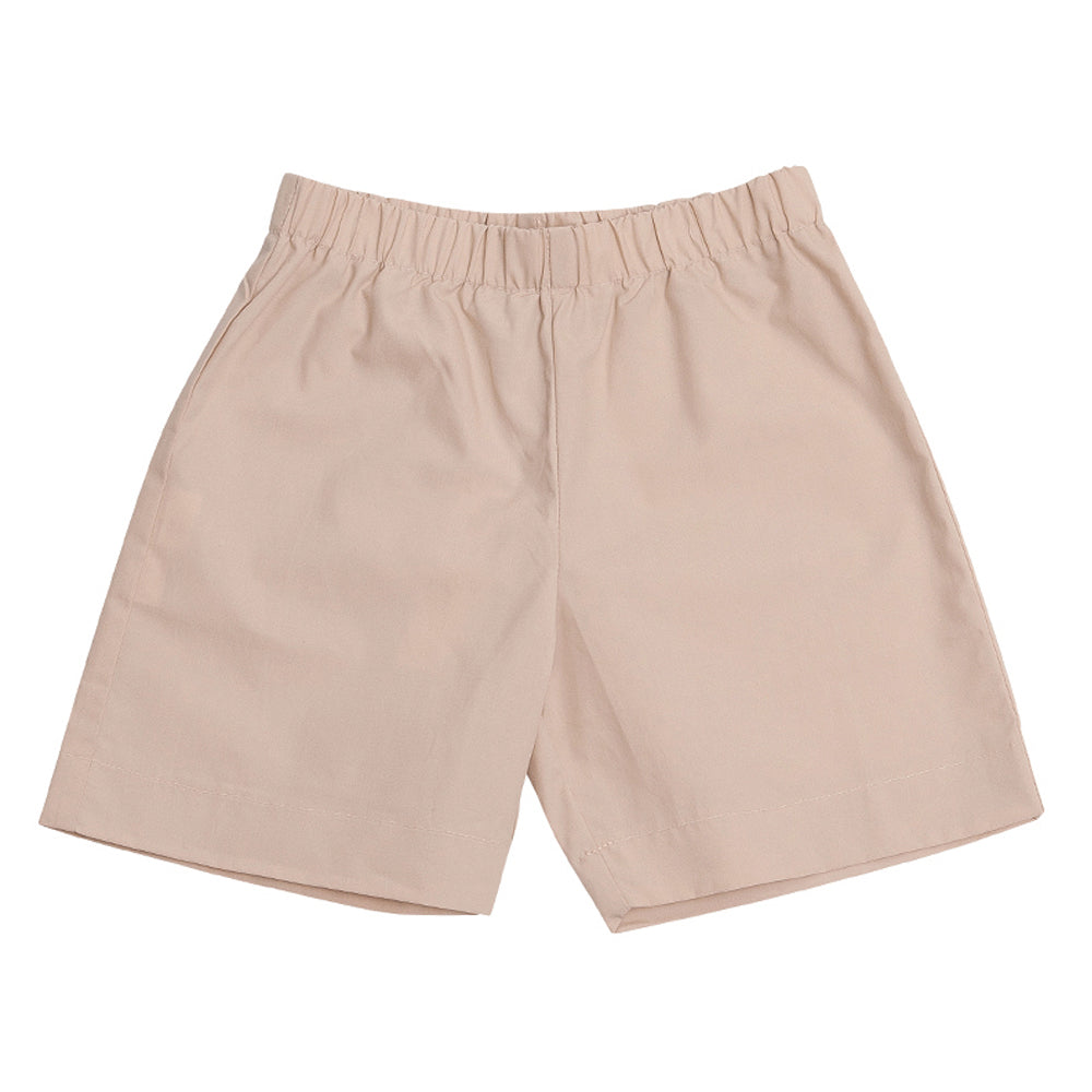 Cotton Poplin Pull On Shorts