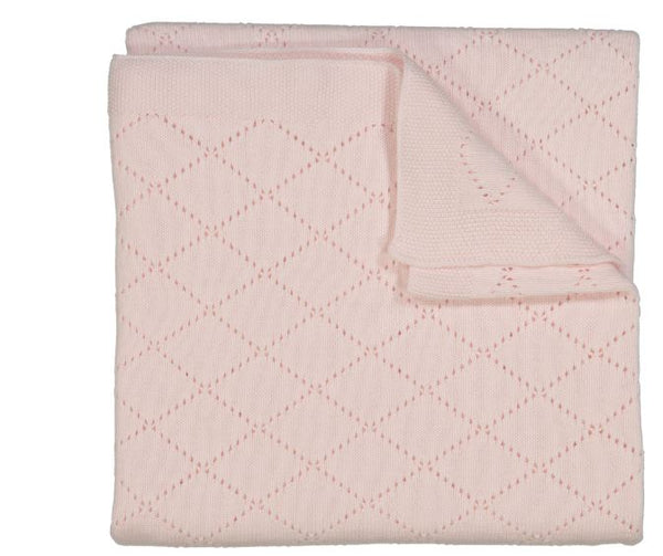 Diamond Pointelle Blanket Pink
