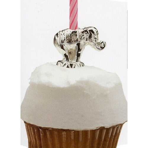 Circus Animal Silver Candle Holder - Elephant