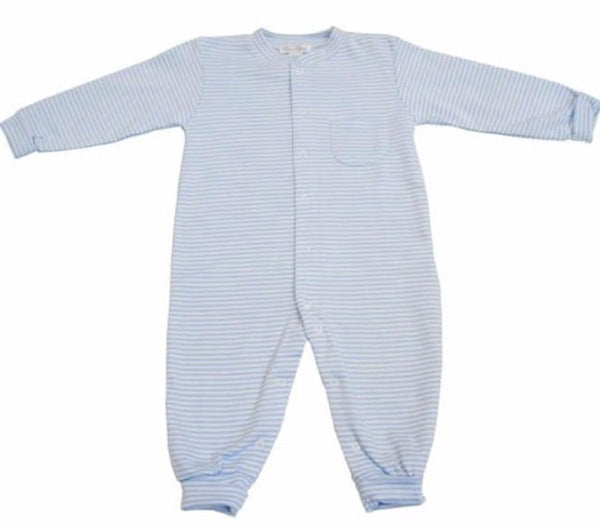 Striped Footless Playsuit - Newborn Layette