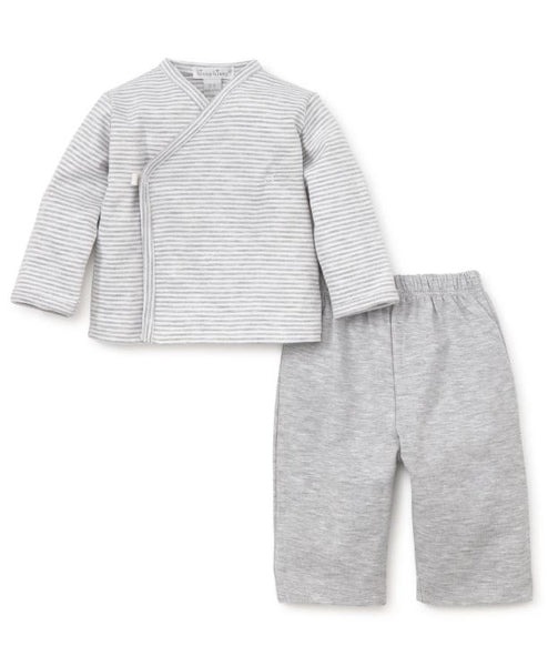 Footed Pant Set Grey