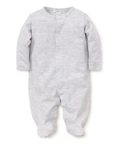 Stripe Footie Grey/White