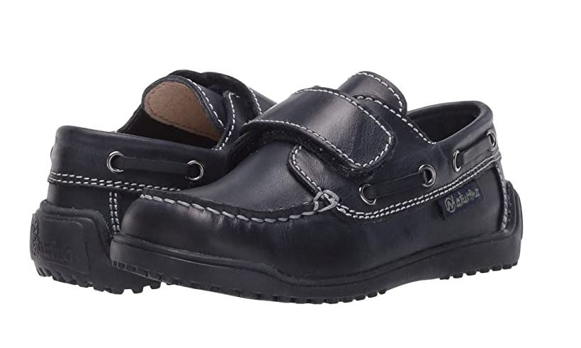 School Boy Velcro Shoe in Navy