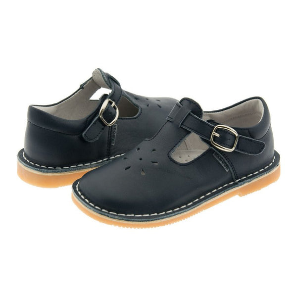 Leather Mary Jane Shoes for Girls Navy Blue