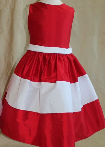 Red & White Party Dress