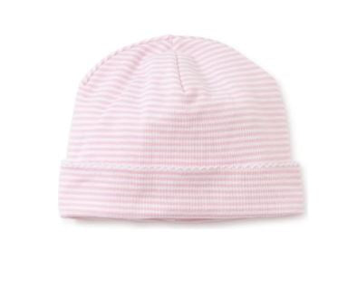 Basic Stripe Knit Hat Pink