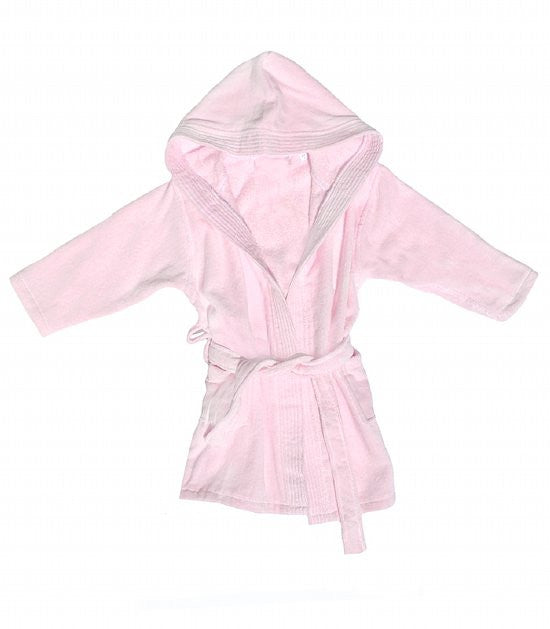 Terry Velpur Robe for Kids Pink