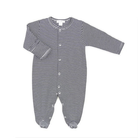 Striped Sleeper Footie Playsuit Onesie Stripes Classic Newborn Baby Layette Set