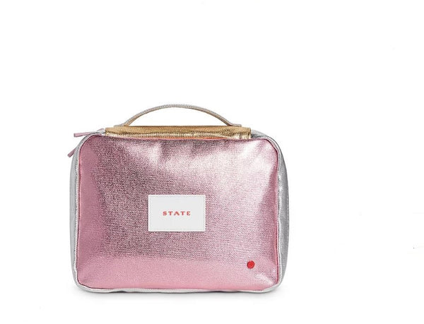 Dopp Kit Metallic Pink/Silver