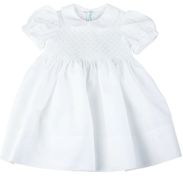 Solid White Smocked Dress
