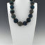 Dark Blue Blown Hollow Necklace