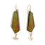 Mango Lime Organic Tropical Colored Prisma Colored Crayon Earrings on Silver, Yellow and Green on silver Earrings,  Silver Kinetic Earrings.