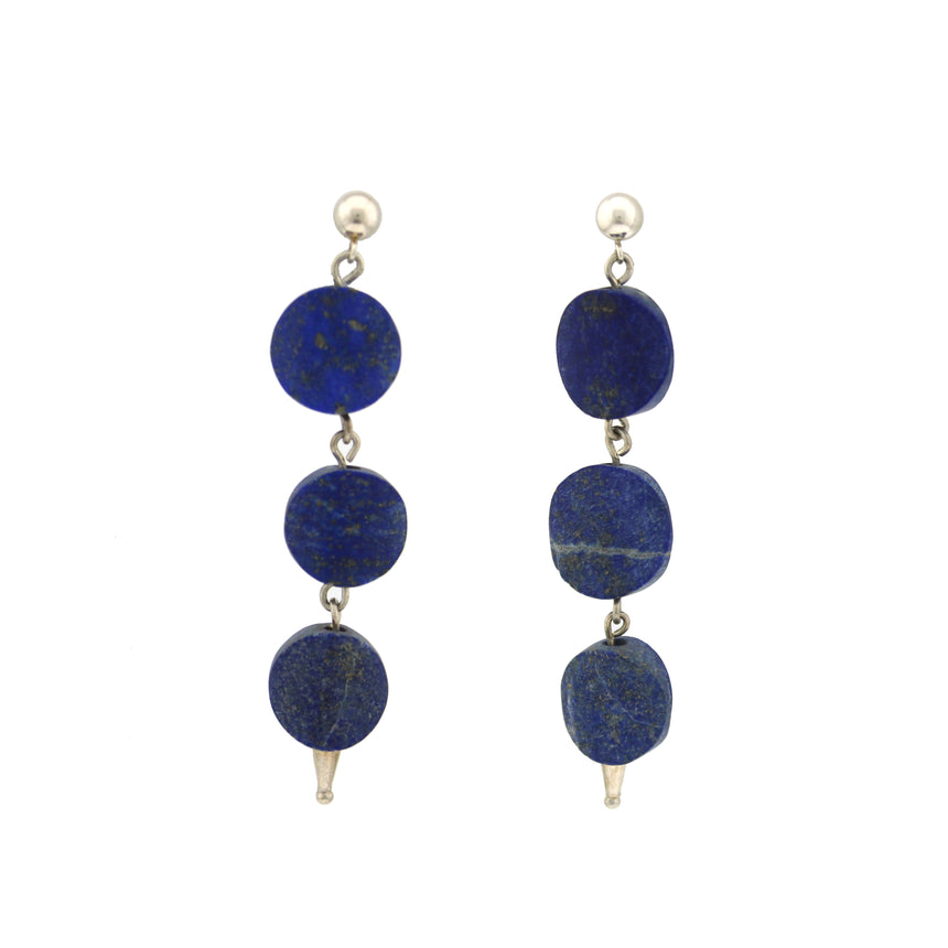 Lapis lazuli drops, Intense Blue Drop Earrings