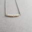 Delicate Pearl Necklace, Pearl Bar Sterling Necklace, Bridal Pearl Necklace