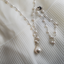 Handmade Chain Of Pearls Necklace, Rosary Chain with Drop Pearl Focal,  Sterling Silver and Pearl Necklace