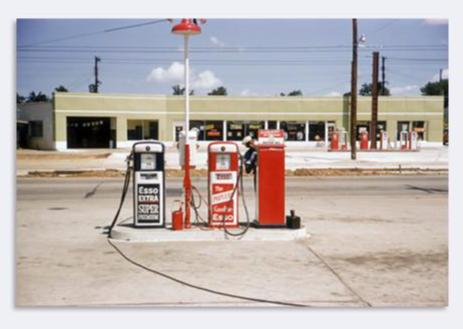 Jack Robinson - Memphis, Tennessee - Gas Station