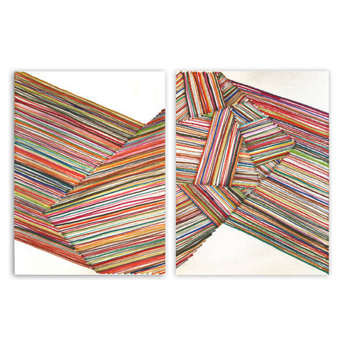 Robert Witz - Marker Drawings - Diptych