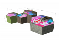 Custom Art x Furniture Coffee Table and Seating - Karlos Marquez