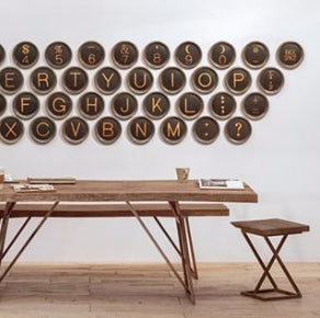 Type Writer Wall Installation