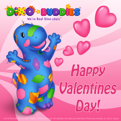 Dino-Buddies Happy Valentines Day