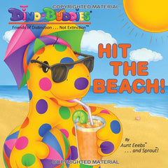 Hit The Beach! - Paperback Book - DinoBuddies
