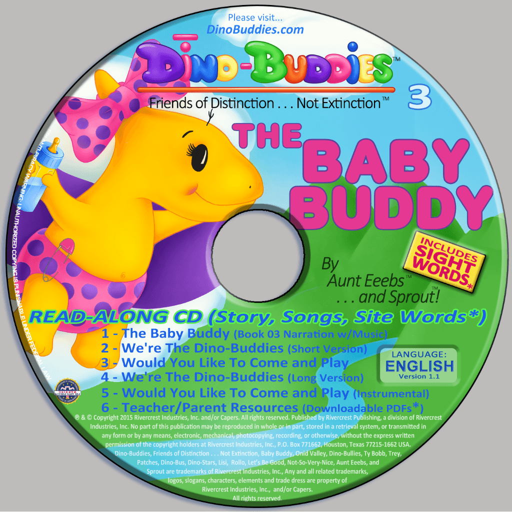 The Baby Buddy - Read-Along Music CD - DinoBuddies