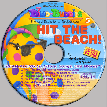 Hit The Beach! - Read-Along Audio Music CD