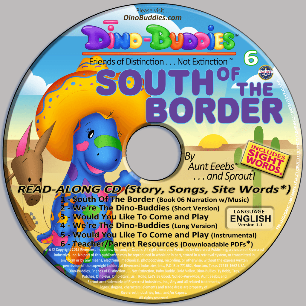 South Of The Border - Read-Along Music CD