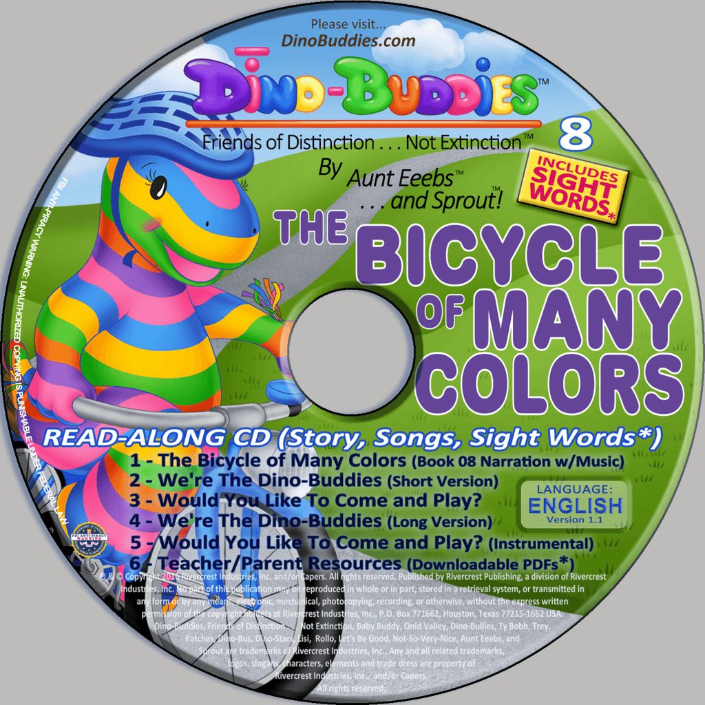 8 - CD - The Bicycle of Many Colors