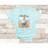 Christmas in the Sand on Ice Blue Crewneck (Fits True to Size)