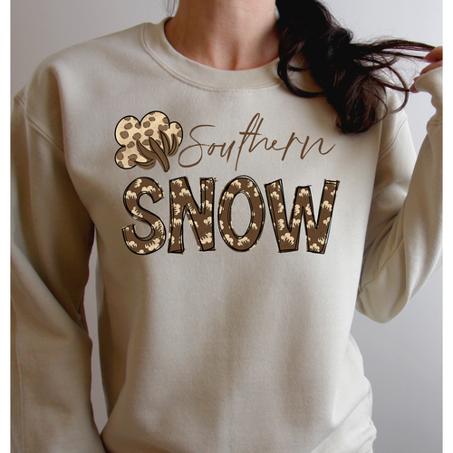 Cotton Southern Snow on Sand Long Sleeve Tee (Fits True to Size)