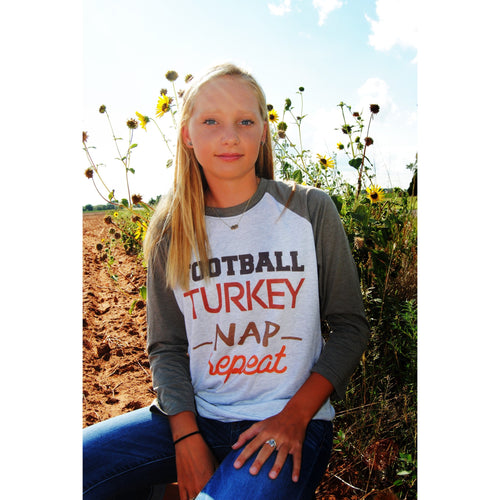 Football/Turkey/Repeat Raglan (Unisex Sizing)