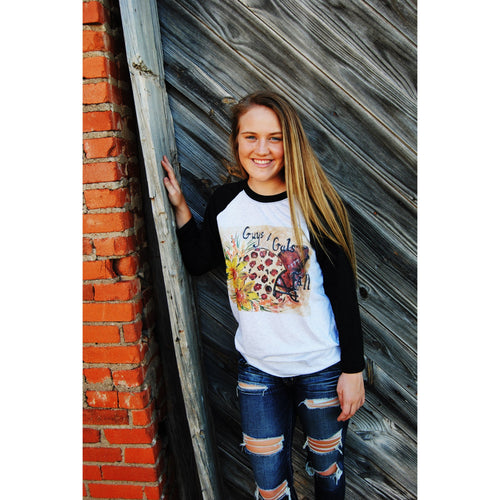 Hand Painted Football Tee, Guys and Gals of Fall, The Posh Pearl Apparel Co