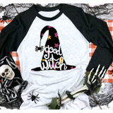 Good Witch on Black Raglan (fits True to Size)