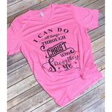 I Can Do ALL Things on Pink V-Neck (Fits True to Size)