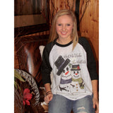 Meet Me Under The Mistletoe on Black Raglan (Fits True to Size)
