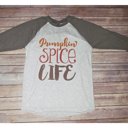Harvest Wishes (Hand Painted) on Taupe Raglan - Unisex Sizing