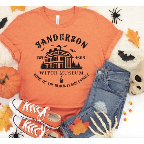 Sanderson on Orange Crewneck (Fits True to Size)