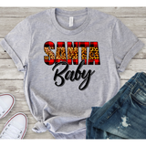 Santa Baby on Grey Crewneck (Fits True to Size)