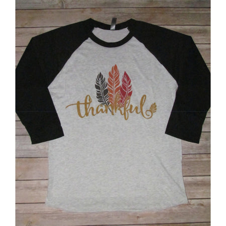 Thankful Turkey on Taupe V-Neck Tee (Fits True to Size)