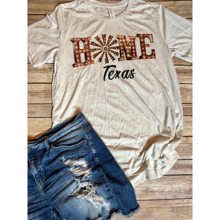 Love of Texas on White Fleck V-Neck (Fits True to Size)