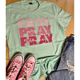 Pray on Mint Crewneck (Fits True to Size)