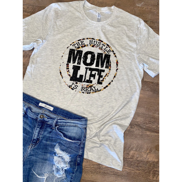 Mom Life on Oatmeal Crewneck (Fits True to Size)