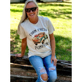 Farm Fresh Pumpkins on Oatmeal Crewneck (Fits True to Size)