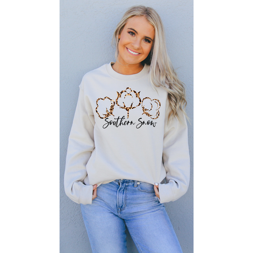 Southern Snow on Sand Long Sleeve Tee (Fits True to Size)