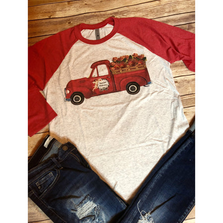On The Road Again on Coral Crew Neck Tee (Fits True to Size)